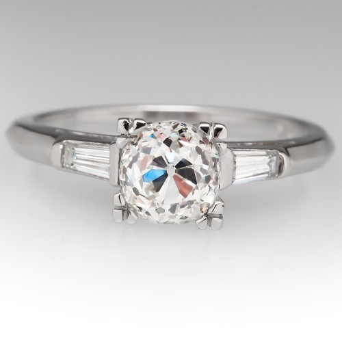 Heirloom Old Mine Cut Diamond Vintage Engagement Ring