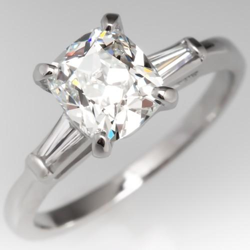 1 Carat G/VS1 Old Mine Cut Diamond Vintage Engagement Ring
