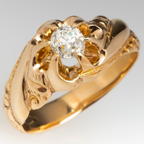 Victorian Old European Cut Diamond Engagement Ring 14K