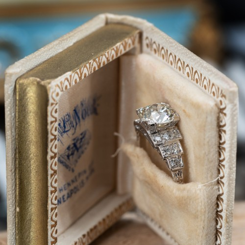 1920's Old European Cut Diamond Engagement Ring