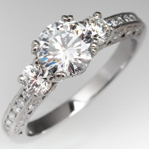 Tacori Engagement Ring 1 Carat D/VVS2 Round Brilliant Diamond