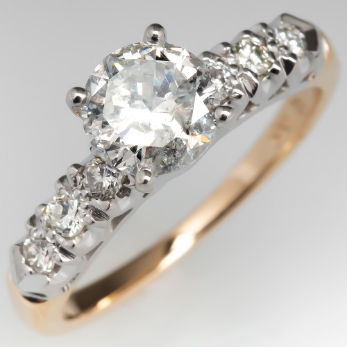 Vintage Diamond Engagement Ring w/ Accents 14K