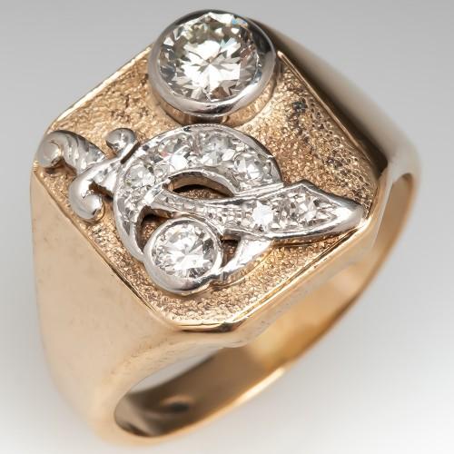 13a5355ee4bd2 Vintage & Estate Men's Jewelry   EraGem