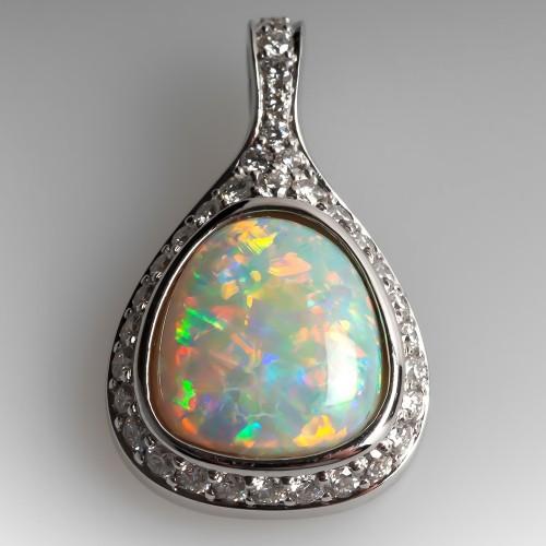 23e4f3faaad Tremonti Crystal Opal & Diamond Enhancer Pendant 18K
