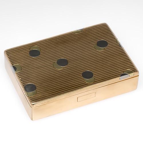 Cartier Cigarette Case Box 14K Gold