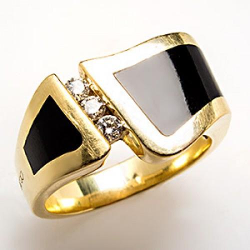Bernard K Passman Wavebreaker Ring