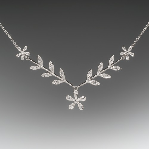 Cathy Waterman Wheat Sheaf Daisy Necklace