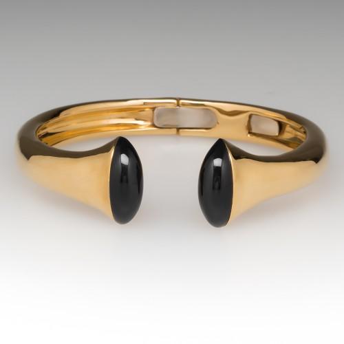 TITOPEDRINI Iside Black Onyx Bracelet Heavy 18K Gold