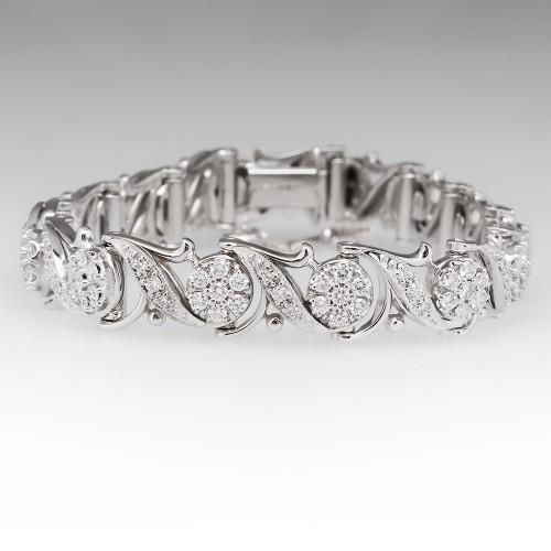 Jabel Vintage Diamond Bracelet 18K White Gold