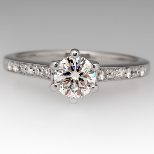 .72 Carat I/VS2 Diamond Engagement Ring w/ Accents in Platinum