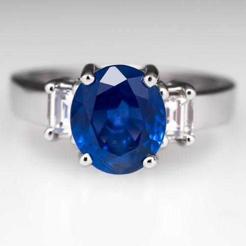 GIA Unheated Sapphire Ring