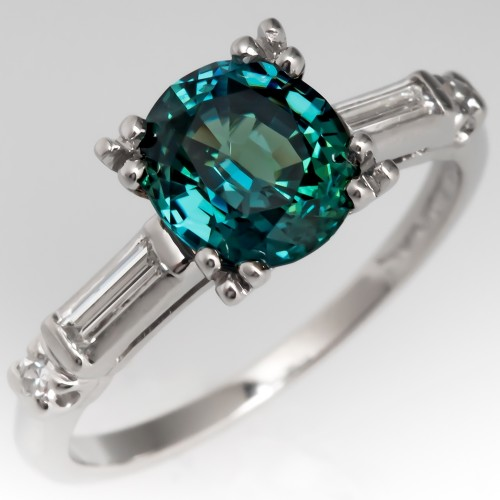 Green Sapphire Engagement Rings