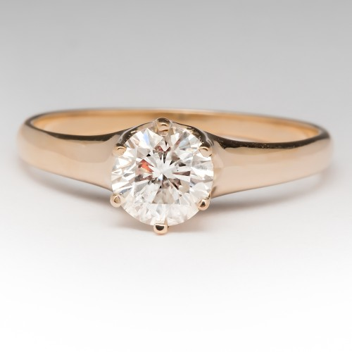 .80 Carat Round Brilliant Diamond Solitaire Ring 14K