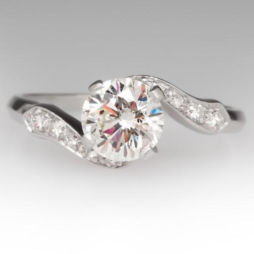 Vintage Round Brilliant Diamond Engagement Ring