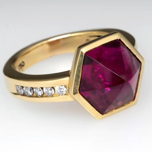Joanne Mulhall Pink Tourmaline Hexagon Ring