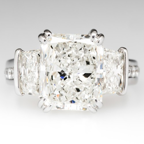GIA Certified 4 Carat Radiant Diamond Engagement Ring