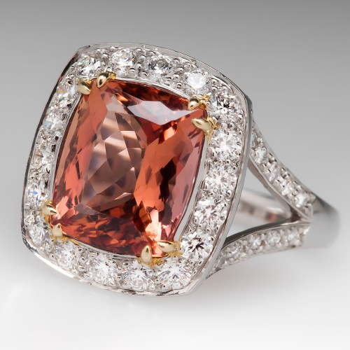 Richard Krementz 7 Carat Imperial Topaz Ring
