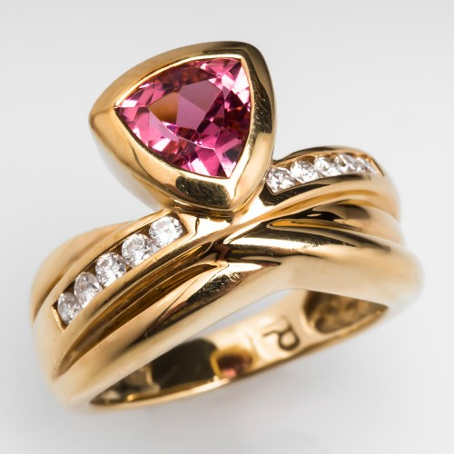 Pink Tourmaline Ring Diamond