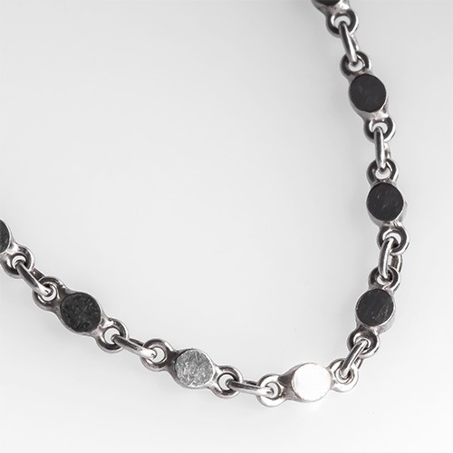 Asian Platinum Link Necklace