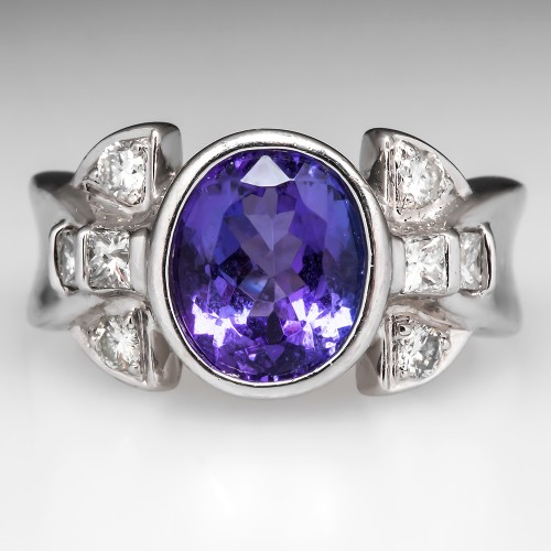 Laura Ramsey Tanzanite Platinum Ring
