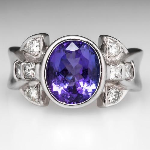 Laura Ramsey Tanzanite Platinum Ring