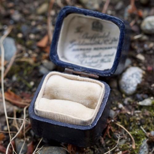 The Sheffield Goldsmiths Co Ltd Diamond Merchants Ring Box