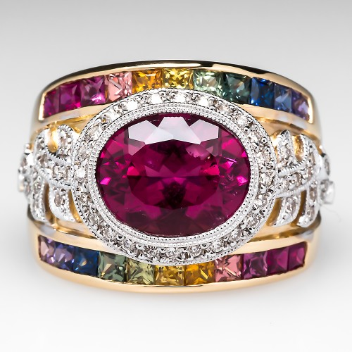 Judy Mayfield Rubellite Tourmaline Cocktail Ring