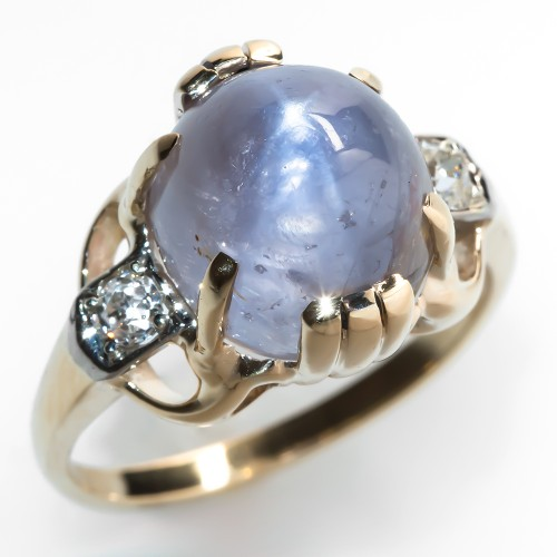 Star Sapphire Cocktail Ring