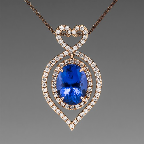 Tanzanite Diamond Pendant