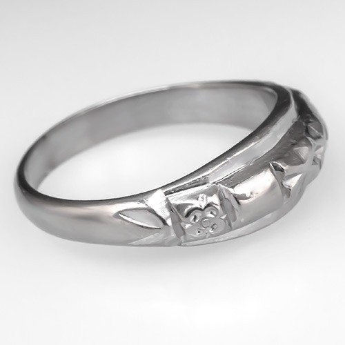 Asian Platinum Wedding Band Ring