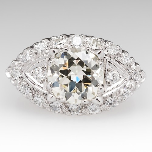 Transitional Cut Diamond Ring