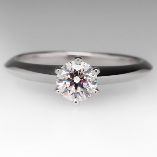 Tiffany & Co. Solitaire .44 Carat F / VVS1 Diamond Ring