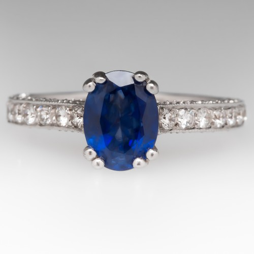 Royal Blue Sapphire & Diamond Ring to benefit Allenforlife.org