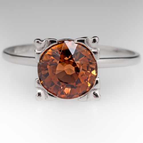 2.3 Carat Natural Tourmaline Solitaire Ring