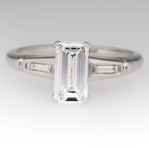 Emerald Cut Diamond 1950's Vintage Seattle Engagement Ring