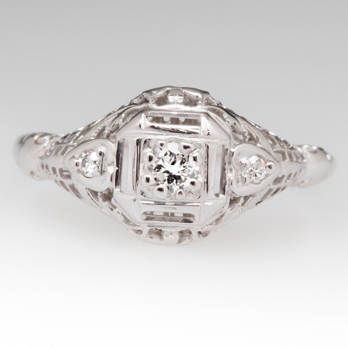 Beautiful Filigree Engagement Ring For Samantha