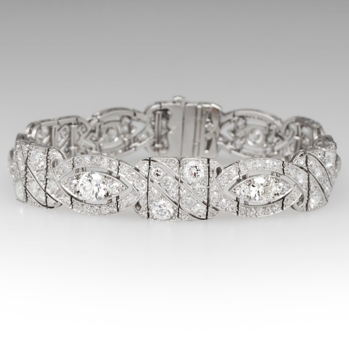 hawaii platinum buyers deco jewelry shop art diamond estate product bracelet