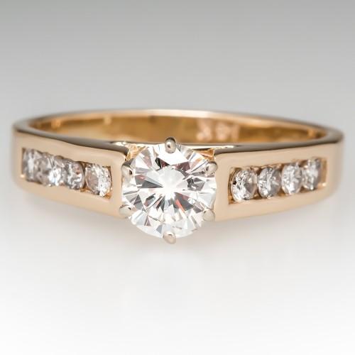 Estate 1/2 Carat Diamond Engagement Ring 14K Gold
