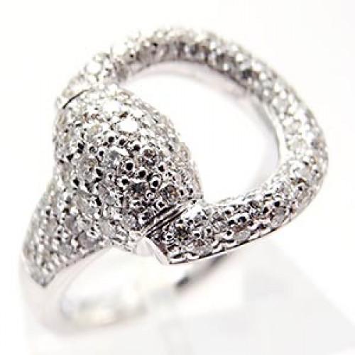 Gucci Horsebit Diamond Ring