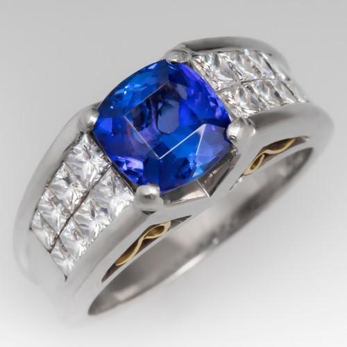 Simon G Tanzanite & Diamond Ring