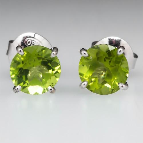 Peridot Martini Stud Earrings
