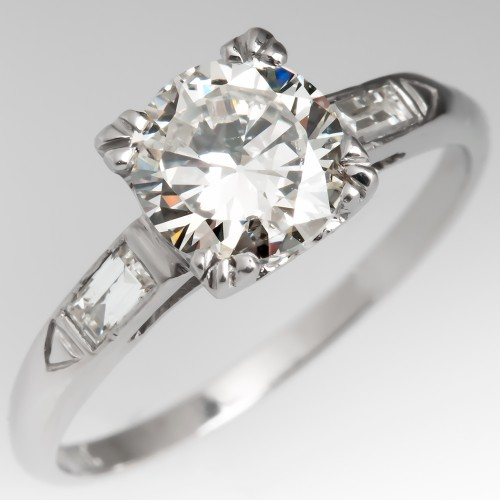 1.2 Carat Transitional Cut Diamond Engagement Ring