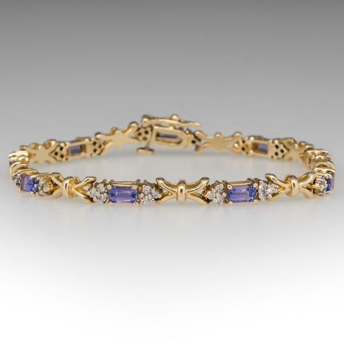 Le Vian Tanzanite & Diamond Link Bracelet 14K Gold