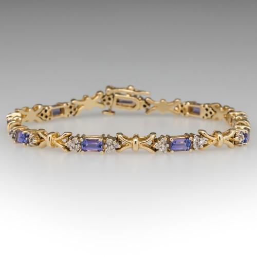 Le Vian Tanzanite & Diamond Link Bracelet 14K Gold